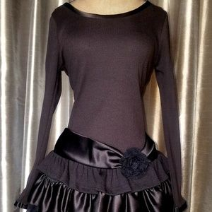 Bonnie jean girls size 16 or 12 black party dress